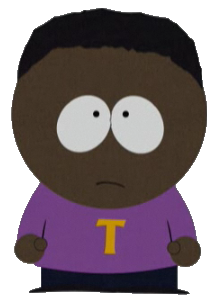 "South Park character ""Token Black."""